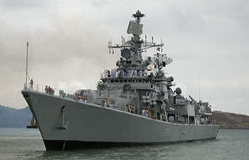 Port call by Indian Naval Ships INS Mumbai, Teg, Talwar and Deepak, Antsiranana (Diego Suarez), 9-12 October 2014