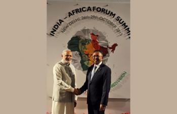 India Africa Forum Summit in New Delhi India.