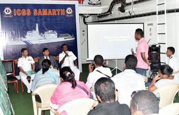 Visit of Indian Coast Guard Ship ICGS Samarth to Toamasina - Madagascar, February 1 to 4, 2016