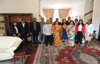 Presentation of  Credencials by Ambassador Shri Subir Dutta, at Presidential Palace, 5 th April 2017
