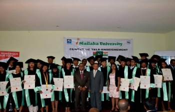 Ambassador Shri Subir Dutta with the students of the Imailaka University on the occasion of their graduation on Friday 29 September 2017.