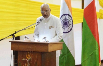 Visit of His Excellency Mr Ram Nath Kovind, President of India, at the University of Antananarivo
