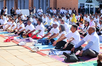 Celebration of 4th International Day of Yoga, 21st June 2018, at the University of Antananarivo