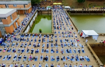 Celebration of International Day of Yoga,21st June 2019, at the University of Antananarivo