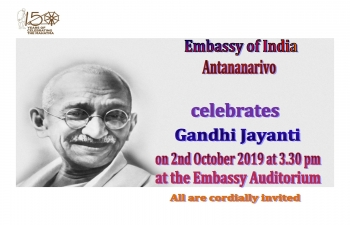 Celebration of Mahatma Gandhi's birth anniversary
