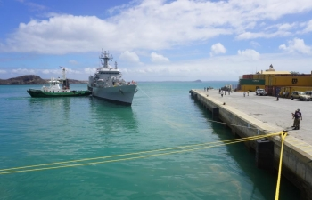 Four Indian naval ships in Antsiranana, Madagascar