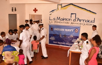 Indian navy ships visit to Madagascar