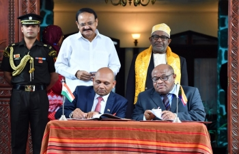 Signature of agreements between India and Comoros, 11th October 2019