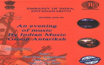 Indian evening music on 21st October, at 6:30 pm