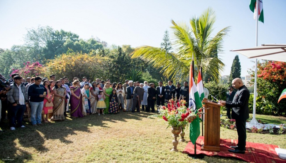 73rd India Independence Day: flag hoisting ceremony