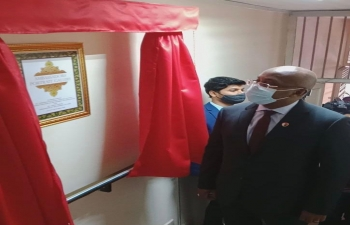 Inauguration of the Ambassadors'Portrait Gallery by the hon'ble Foreign Minister of Madagascar TEHINDRAZANARIVELO DJACOBA A.S OLIVA on 17 September 2020