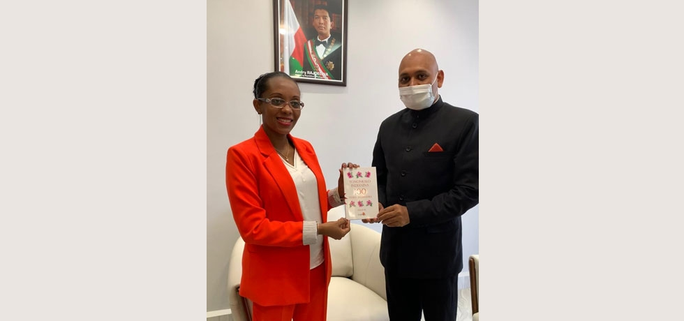 Ambassador Abhay Kumar met H.E  Assoumacou Elia Béatrice, the Minister of Higher Education of Madagascar on 22 September 2020  to discuss about promoting ties in the field of higher education between India and Madagascar.