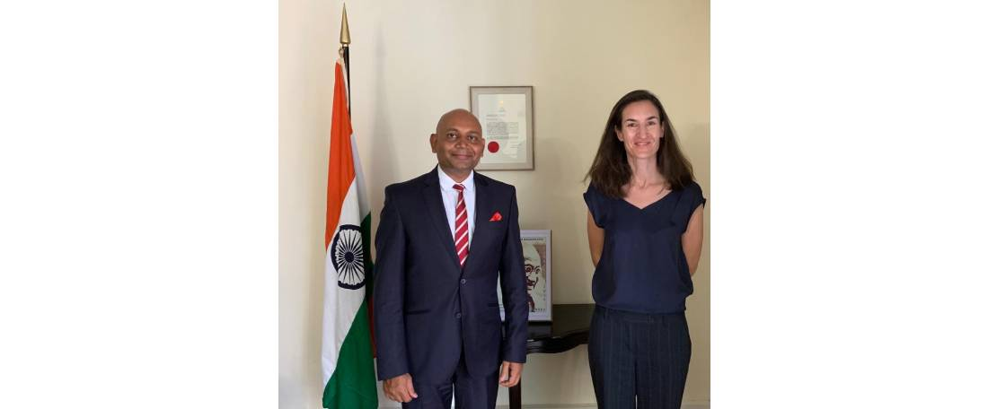 Ambassador Abhay Kumar met Mrs. Natasha van Rijn, Resident Representative of UNDP to Madagascar for exchanging  views on areas of mutual interest related to development of Madagascar.
