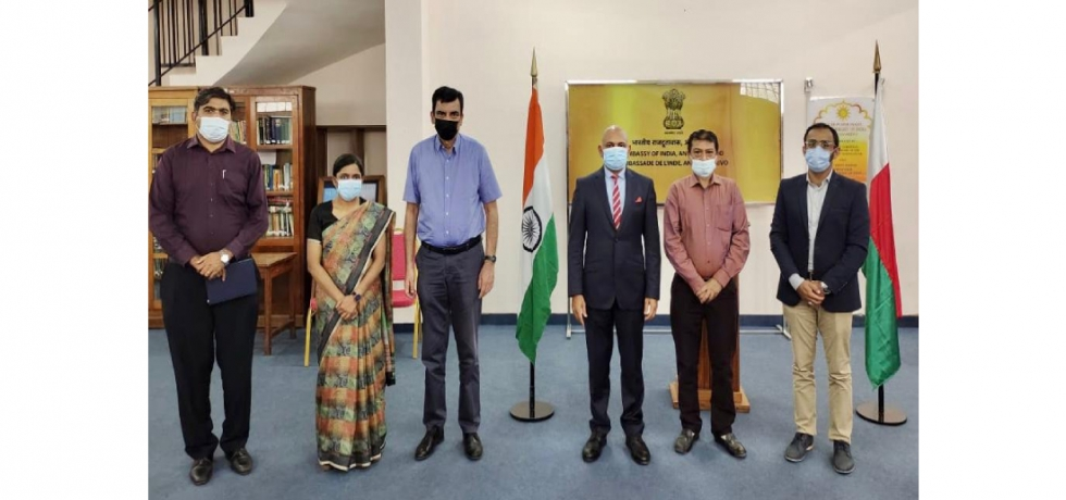 Ambassador Abhay Kumar interacted with the representatives of the various Indian communities (Khojas, Sunnis, Hindus,Ismailis) in Madagascar to know about their well-being and to update them on various initiatives of the Government of India and the Mission.