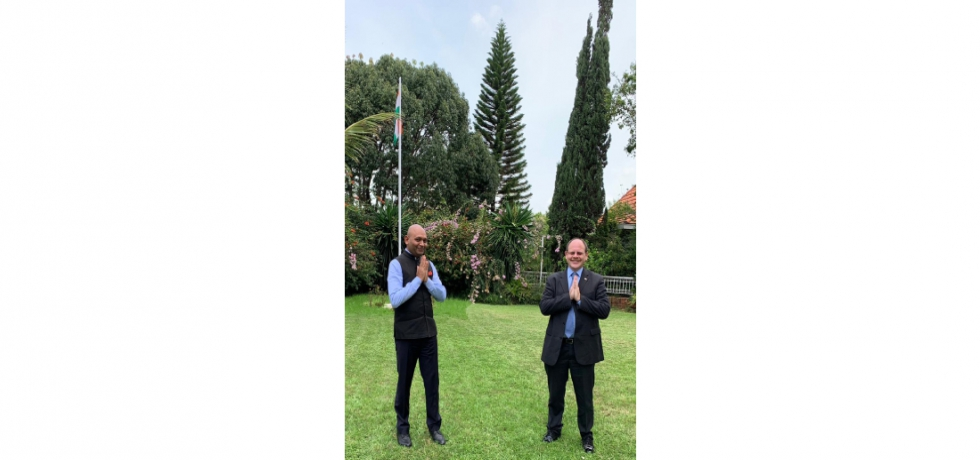 Ambassador Abhay Kumar had the pleasure of meeting H.E. David Ashley, Ambassador of the United Kingdom to Madagascar and Comoros. They exchanged views on the issues of mutual interest.