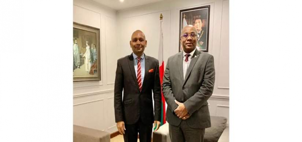 Ambassador Abhay Kumar met H.E. Tehindrazanarivelo Liva, Hon'ble Foreign Minister of Madagascar. They discussed issues of mutual interest and ways to deepen India-Madagascar bilateral ties.