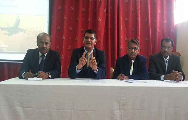 Press Conference by India Cd\'A (Mr Madan Lal Raigar) on new electronic Indian visa procedure; with Deputy Secretary from Indian Ministry of Home Affairs (Mr Mahendra Kumar) Pr System Analyst from NIC India (Mr  P V Raju) and Indian Embassy Visa Officer (Mr S N Thakur)