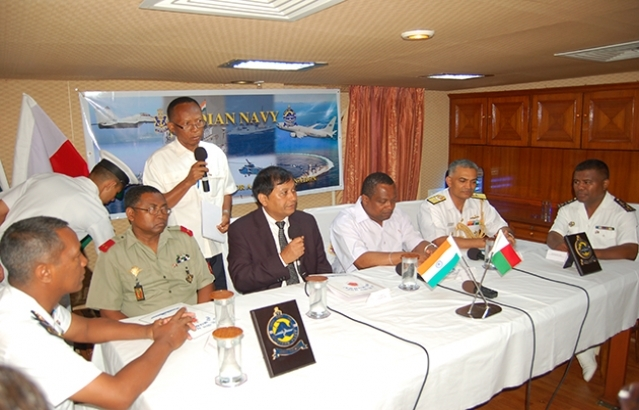 Press conference by Ambassador of India and Commander of Indian Navy