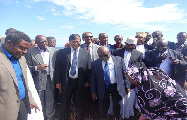 Inauguration of power plant project in Moroni, Comoros
