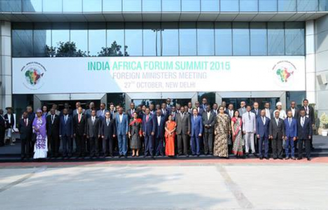 Foreign Ministers meeting, at India Africa Forum Summit