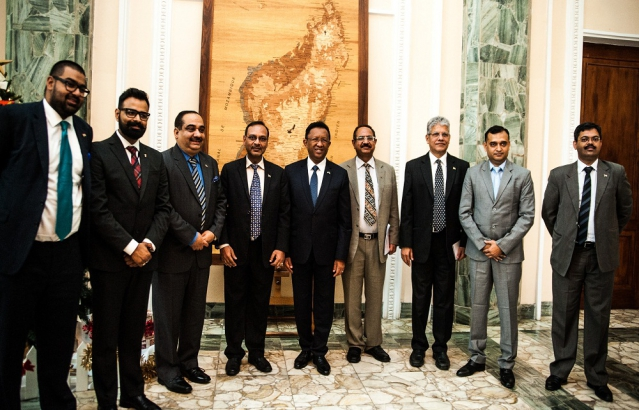 Group photo with H.E the President of Madagascar of CII delegation