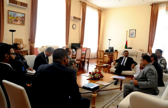Discussions with H.E. the President of Madagascar on important Presidential Projects.