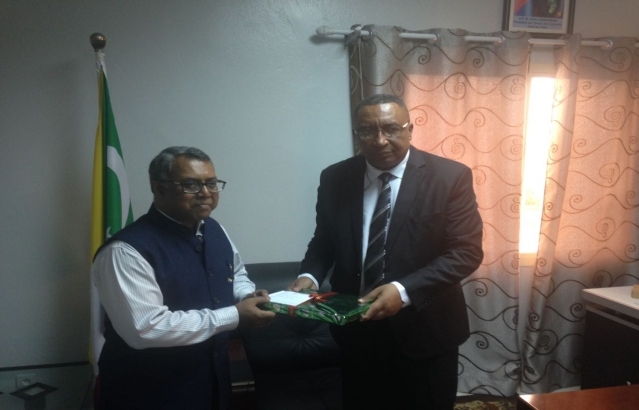 Meeting with Energy Minister Mr. Djaffar ahmed Said Hassani