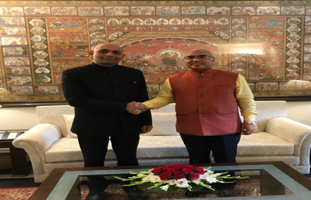Abhay Kumar, Ambassador-Designate met Shri Akhilesh Mishra, Director of General, Indian Council for Cultural Relations  at Azad Bhavan, New Delhi