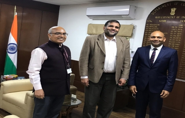 Met Commerce Secretary Shri Anup Wadhawan and Dg ICCR Shri Akhilesh Mishra @ AkhileshIFS as part of consultations in New Delhi before taking  charge as Ambassador of India in Madagascar