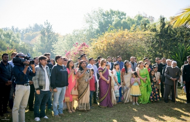 The Indian community attended the flag hoisting ceremony