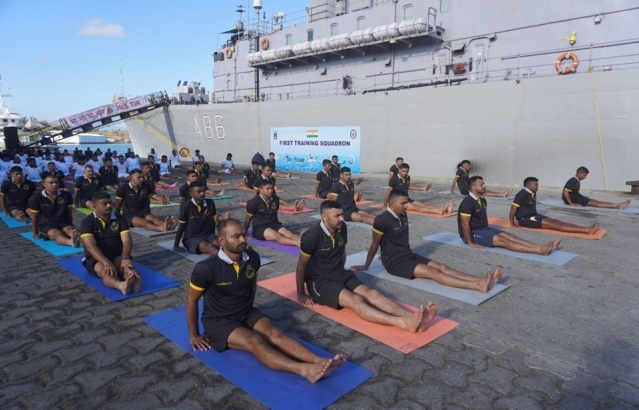 Indian navy ships visit to Madagascar, October 2019